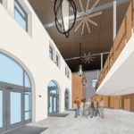 Rendering of Alan Harvey Theater Lobby