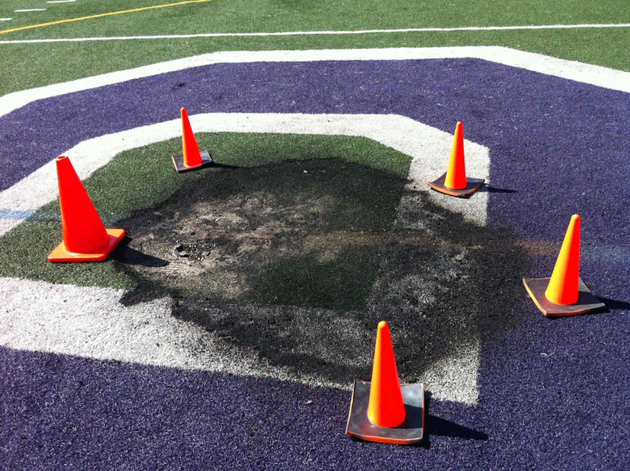 Damage to Witter Field